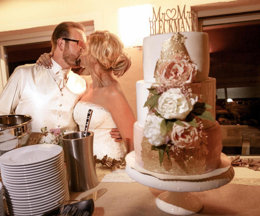 Diy Hochzeitstorte Rose Gold Elfenweiss
