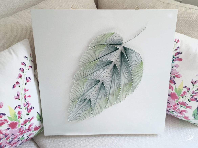 "DIY Fadenbild ""Blatt"" aus Nägeln ⋆ elfenweiss"