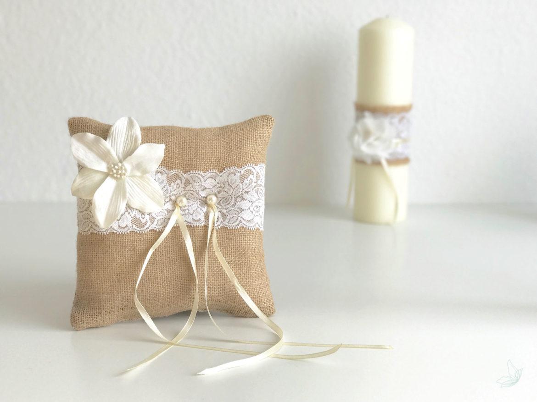 diy vintage ringkissen elfenweiss. Black Bedroom Furniture Sets. Home Design Ideas