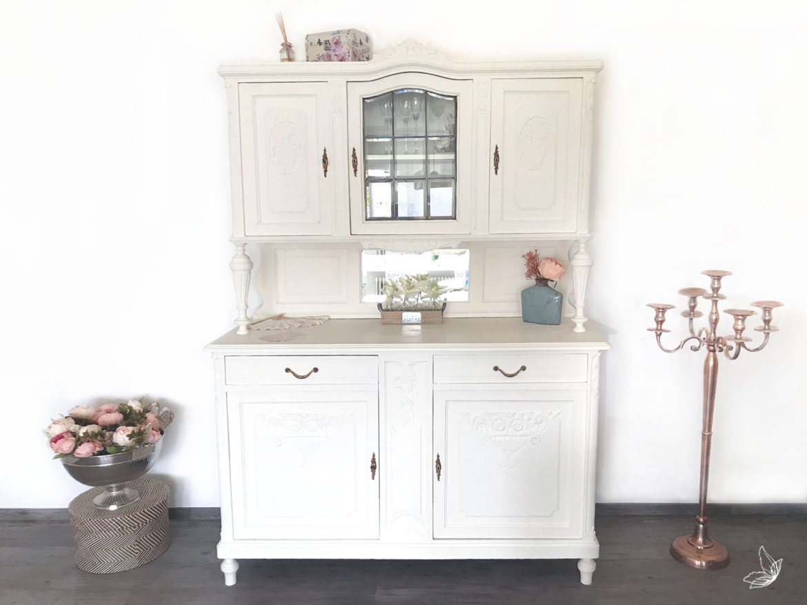 Diy Vintage Buffet In Kreideweiss Elfenweiss