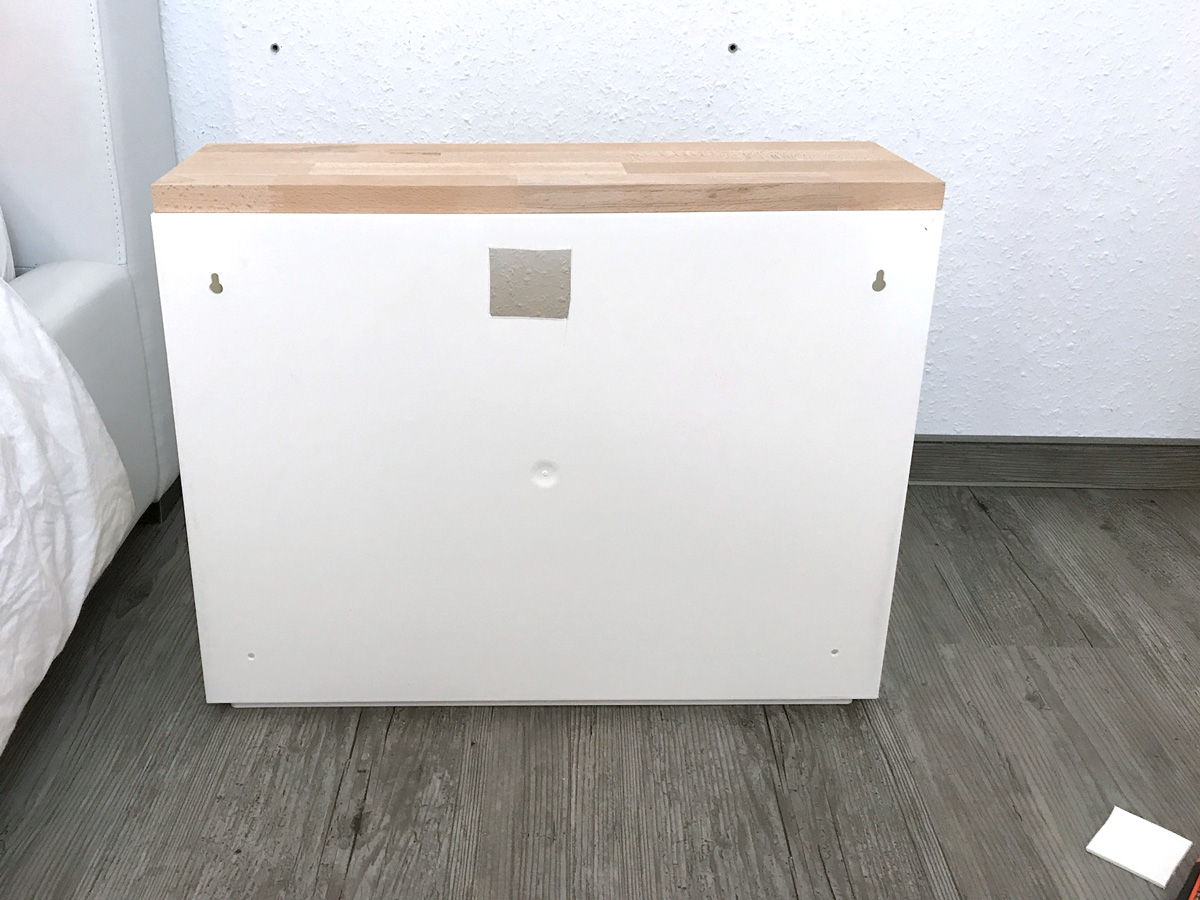 ikea hack trones nachttisch elfenweiss. Black Bedroom Furniture Sets. Home Design Ideas