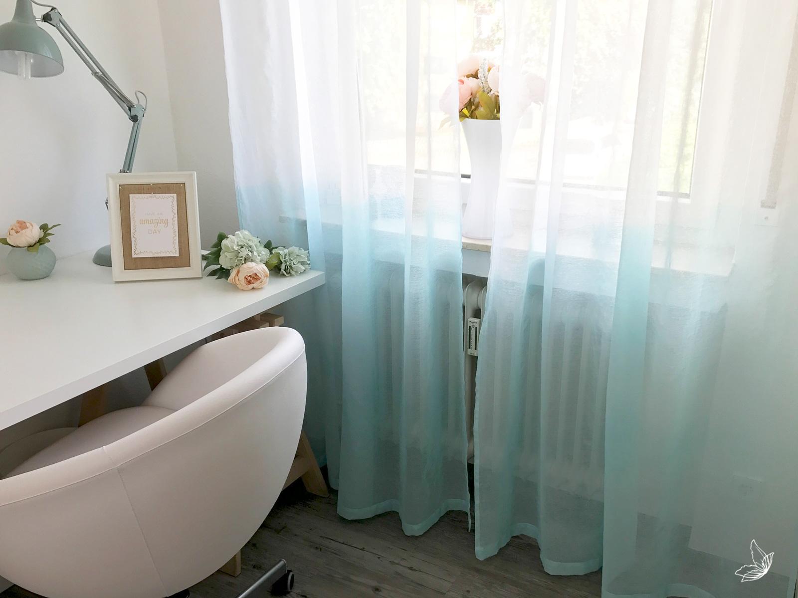 diy dip dye vorh nge mit ombre effekt elfenweiss. Black Bedroom Furniture Sets. Home Design Ideas