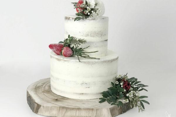Naked Cake Hochzeitstorte Tortenrezept, backen, elefenweiss, elfenweiss.de,