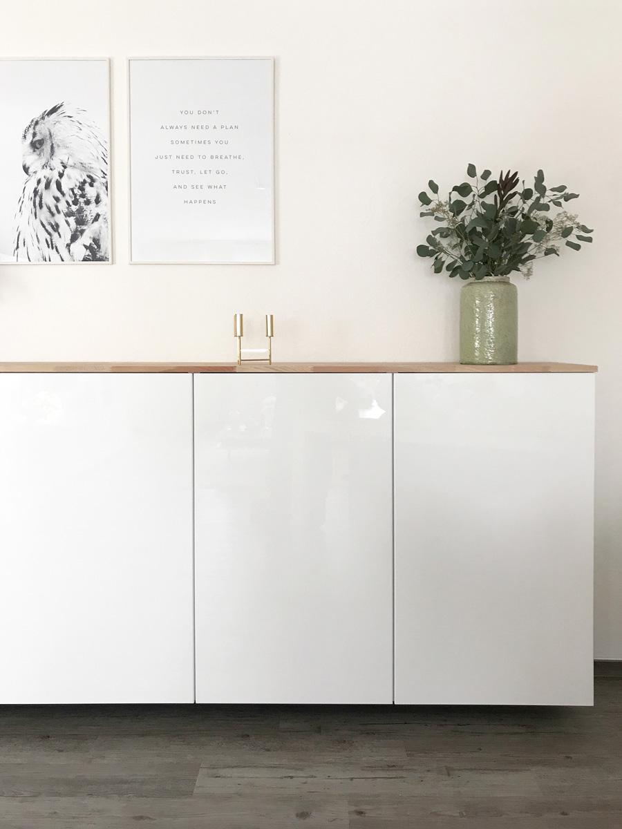 Küchenschrank weiß ikea  Ikea Hack – Metod Küchenschrank als Sideboard | elfenweiss