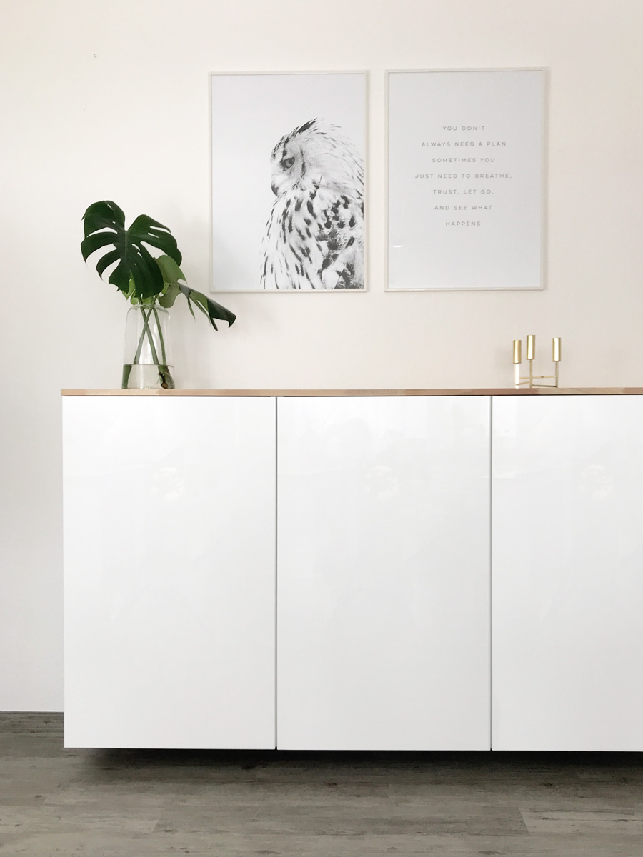 ikea hack metod k chenschrank als sideboard elfenweiss. Black Bedroom Furniture Sets. Home Design Ideas