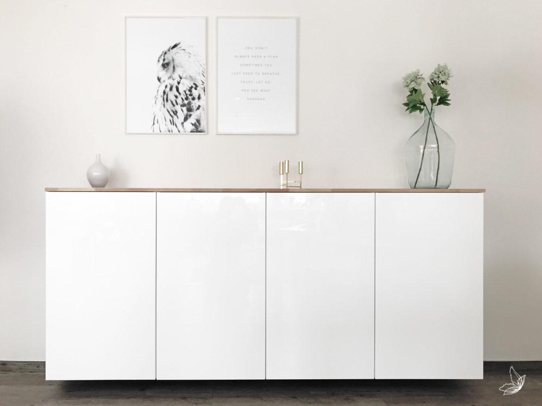 Ikea Hack – Metod Küchenschrank als Sideboard | elfenweiss