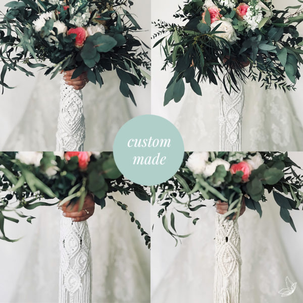 Bouquet wrap, Boho Wedding