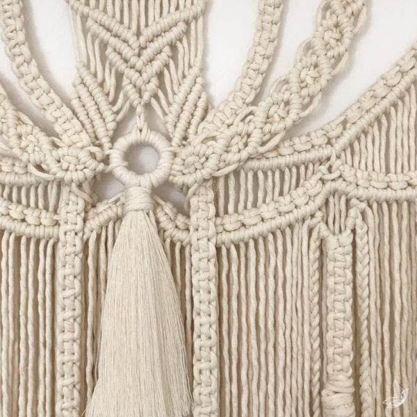 Macramé, Wallhanger, Wandhänger, Makramee, elfenweis Makramee, Joy of knotting, elfenweiss.de, Online-Shop