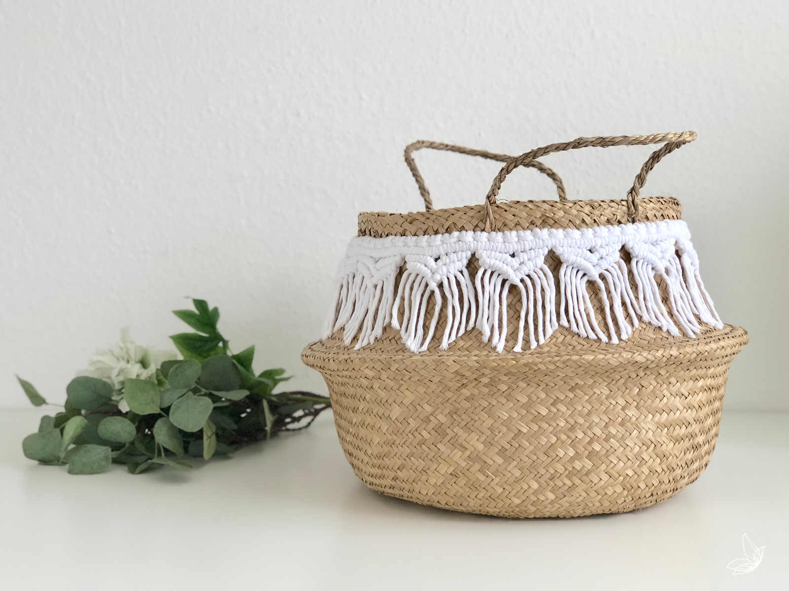 Boho Home, Ikea Hack, Macramee, Macramé, Seegraskorb, Seegras, DIY