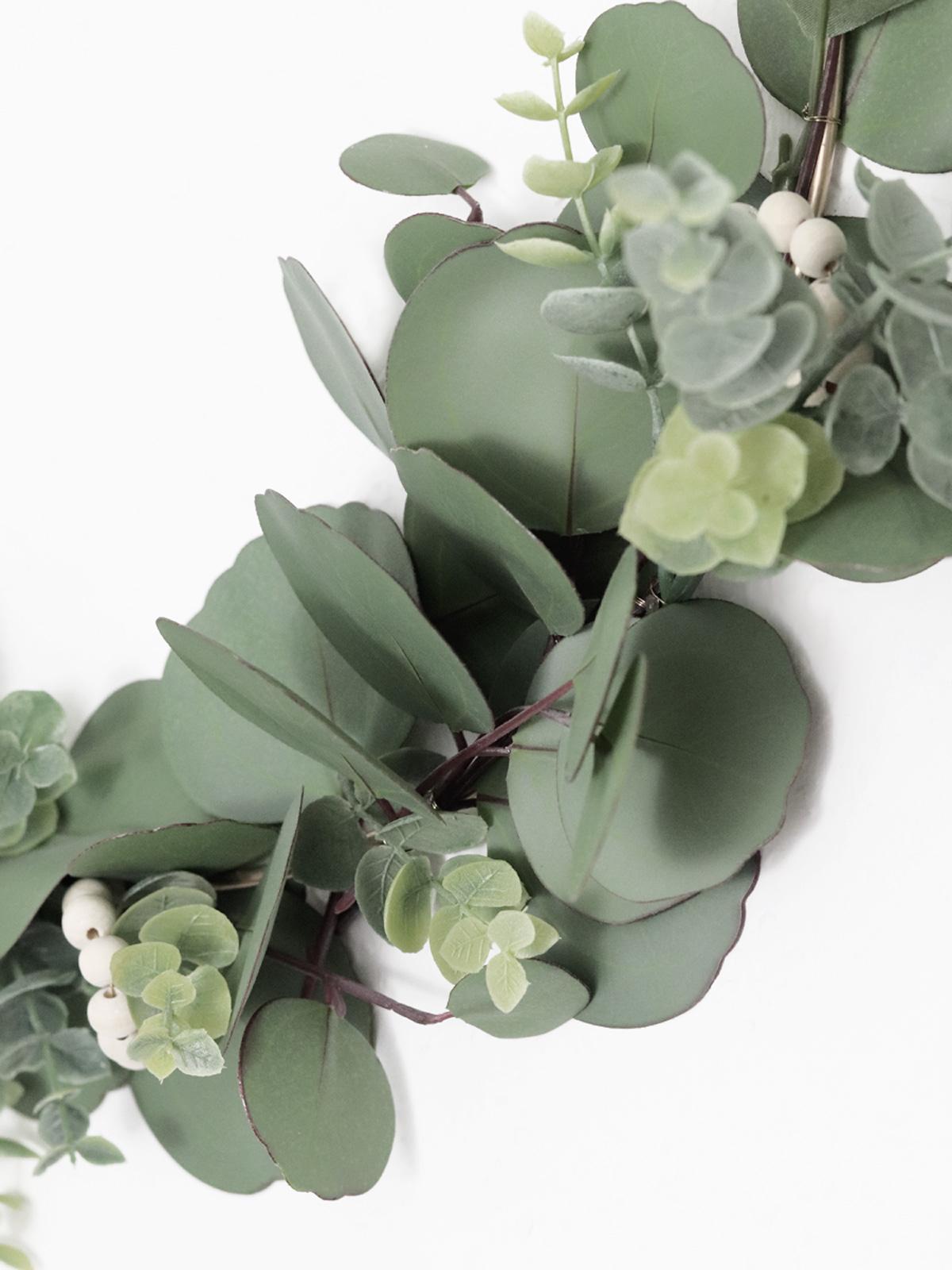 Scandi Herbst Diy Eukalyptus Kranz Elfenweiss