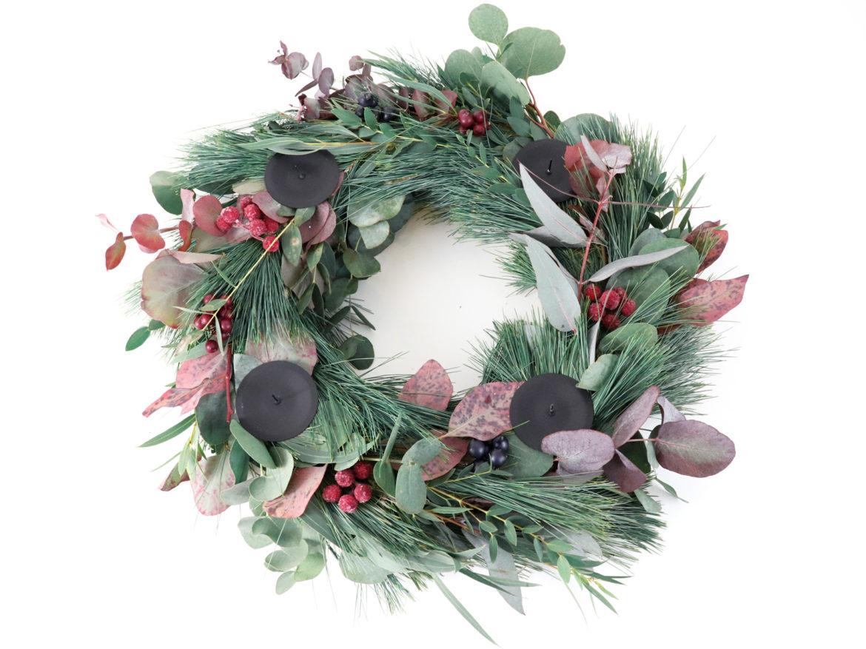 Diy Eukalyptus Kranz Adventskranz Elfenweiss