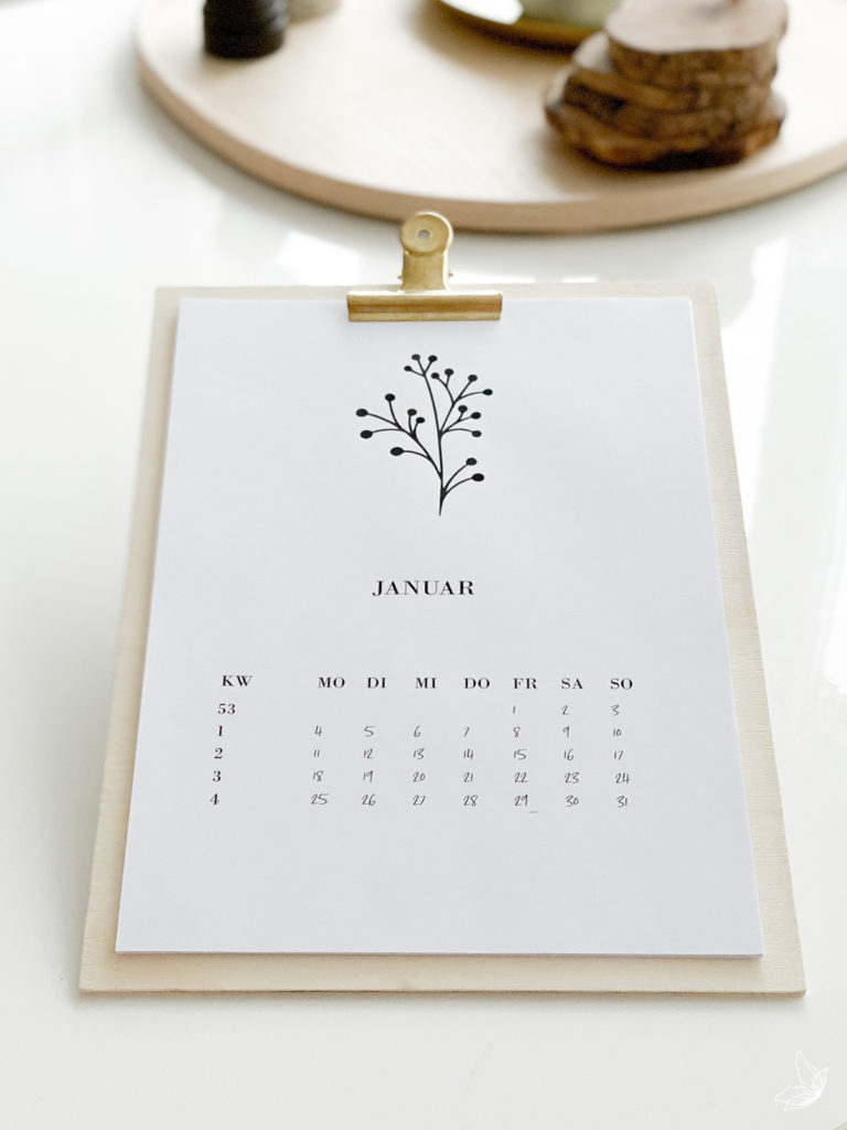 DIY Kalender 2021 Ausdruck-Kalender 2021 kostenlose Vorlage Kalender calendar DINA4