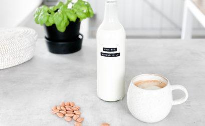 Rezept Mandelmilch Milch selber machen Baristamilch Vegane Milch vegan Pflanzenmilchrezept Barista Pflanzenmilch plantbased